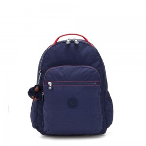Kipling SEOUL GO Large Backpack with Laptop Protection Polished Blue C
