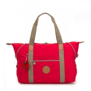 Kipling ART M Travel Tote With Trolley Sleeve True Red C