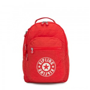 Kipling CLAS SEOUL Water Repellent Backpack with Laptop Compartment Active Red NC