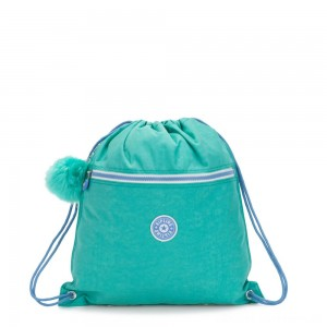 Kipling SUPERTABOO Medium Drawstring Bag Deep Aqua C