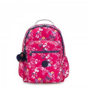 Black Friday 2020 - Kipling D SEOUL GO Large Backpack with Laptop protection Doodle Pink