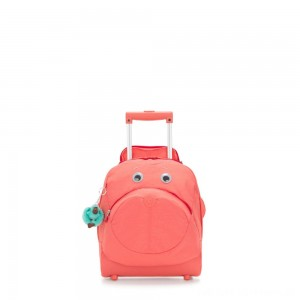 Black Friday 2020 - Kipling BIG WHEELY Wheeled School Bag Peachy Pink C