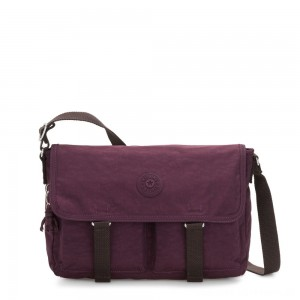 Black Friday 2020 - Kipling IKIN Medium Messenger Crossbody Bag Dark Plum