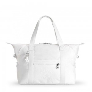 Black Friday 2020 - Kipling ART M Medium Tote Bag with 2 Front Pockets Lively White