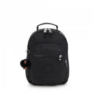 Black Friday 2020 - Kipling CLAS SEOUL S Backpack with Tablet Compartment True Black