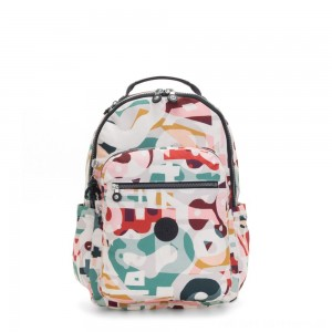 Kipling SEOUL Large backpack with Laptop Protection Music Print