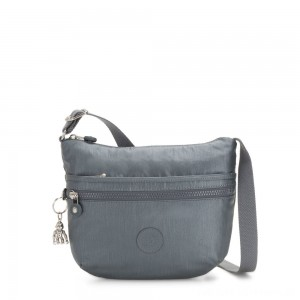 Kipling ARTO S Small Cross-Body Bag Steel Grey Metallic