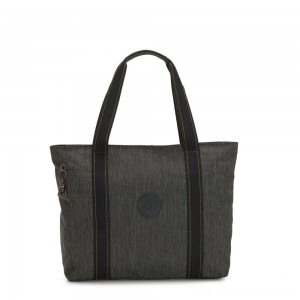 Kipling ASSENI Large Tote Bag with Internal Compartments Black Indigo