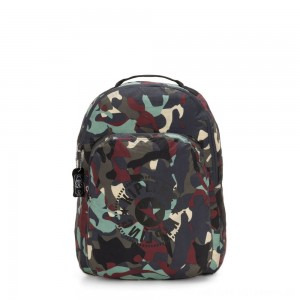 Black Friday 2020 - Kipling SEOUL PACKABLE Large Foldable Backpack Camo Large Light