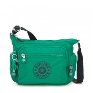 Black Friday 2020 - Kipling GABBIE S Crossbody Bag with Phone Compartment Lively Green