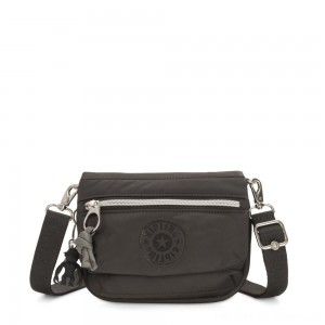 Kipling TULIA Small Puff effect 2-in-1 Crossbody/Bum Bag Cold Black