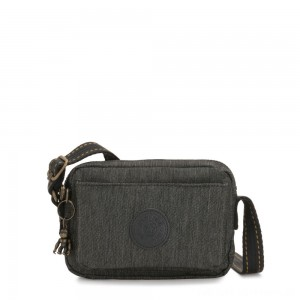 Black Friday 2020 - Kipling ABANU Mini Crossbody Bag with Adjustable Shoulder Strap Black Indigo