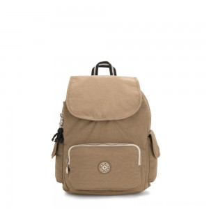 Kipling CITY PACK S Small Backpack Sand