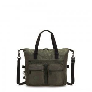 Kipling NEW ERASTO Large Tote with Front Pockets Satin Camo
