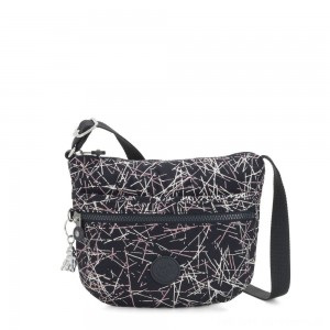 Kipling ARTO S Small Cross-Body Bag Navy Stick Print