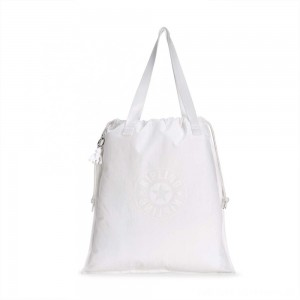 Kipling NEW HIPHURRAY Lightweight Tote Bag Lively White