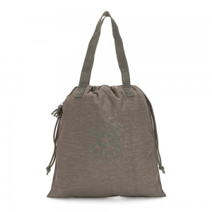 Kipling NEW HIPHURRAY Small Foldable Tote with drawstring Seagrass