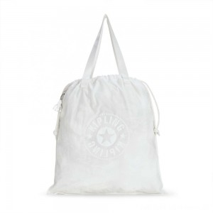 Black Friday 2020 - Kipling NEW HIPHURRAY L FOLD Foldable tote bag with drawstring Lively White