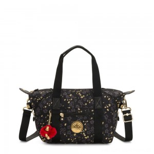 Black Friday 2020 - Kipling ART MINI Mini Tote Shoulderbag with Adjustable Shoulder Strap Grey Gold Floral