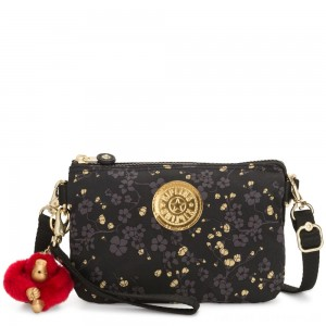 Black Friday 2020 - Kipling CREATIVITY XL X Small 2 in 1 Crossbody Convertible into Pouch Grey Gold Floral