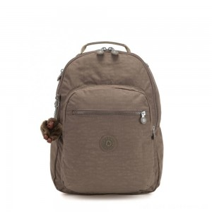 Kipling CLAS SEOUL Large backpack with Laptop Protection True Beige