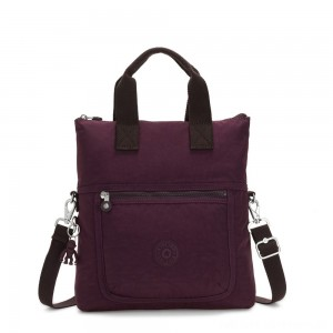 Kipling ELEVA Shoulderbag with Removable and Adjustable Strap Dark Plum