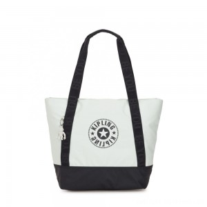 Black Friday 2020 - Kipling SIDRA Large spacious tote bag with magnetic closure White Blue Bl