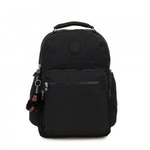 Kipling OSHO Large backpack with organsiational pockets True Black