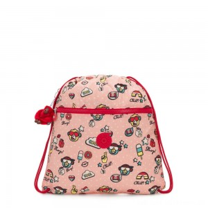 Kipling SUPERTABOO Medium Drawstring Bag Monkey Play