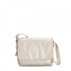Kipling NITANY Medium Crossbody Bag Cloud Metal