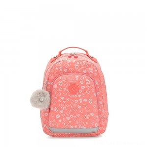 Kipling CLASS ROOM S Small backpack with laptop protection Hearty Pink Met