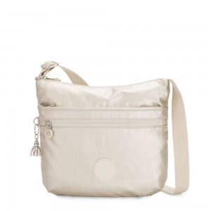 Kipling ARTO Shoulder Bag Across Body Cloud Metal