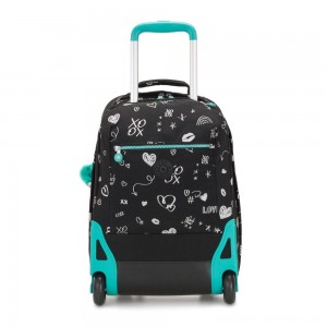 Black Friday 2020 - Kipling SOOBIN LIGHT Large wheeled backpack with laptop protection Girl Doodle