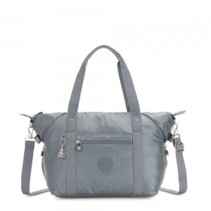 Kipling ART Handbag Steel Grey Metallic