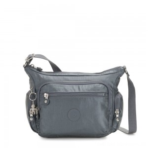 Kipling GABBIE S Crossbody Bag with Phone Compartment Steel Grey Metallic