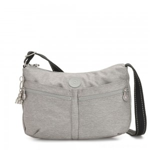 Kipling IZELLAH Medium Across Body Shoulder Bag Chalk Grey
