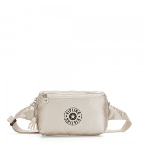 Kipling HALIMA Small 2-in-1 Waistbag and Crossbody Cloud Metal Combo