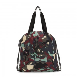 Black Friday 2020 - Kipling HIPHURRAY PACKABLE Medium Foldable Tote Bag Camo Large Light