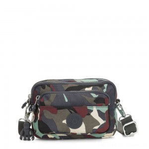 Kipling MULTIPLE Waist Bag Convertible to Shoulder Bag Camo Large