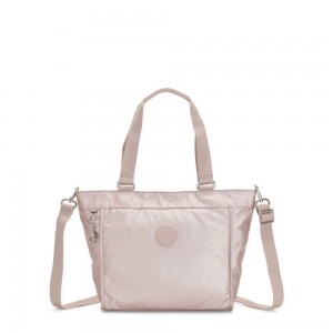 Black Friday 2020 - Kipling NEW SHOPPER S Small Shoulder Bag With Removable Shoulder Strap Metallic Rose