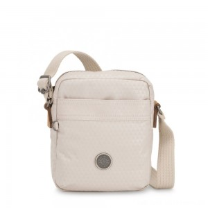Kipling HISA Small Crossbody bag with front magneic pocket Triangle White