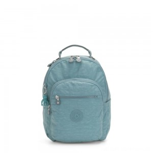 Black Friday 2020 - Kipling SEOUL S Small Backpack with Tablet Compartment Aqua Frost