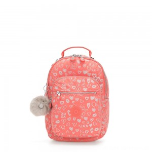 Black Friday 2020 - Kipling SEOUL GO S Small Backpack Hearty Pink Met