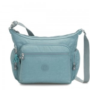Kipling GABBIE Medium Shoulder Bag Aqua Frost