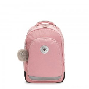 Kipling CLASS ROOM Large backpack with laptop protection Bridal Rose