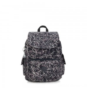 Kipling CITY PACK S Small Backpack Navy Stick Print