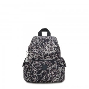 Black Friday 2020 - Kipling CITY PACK MINI City Pack Mini Backpack Navy Stick Print