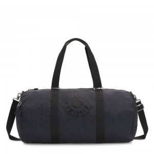 Kipling ONALO L Large Duffle Bag with Zipped Inside Pocket Night Grey Nc