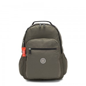 Black Friday 2020 - Kipling SEOUL GO Large backpack with laptop protection Cool Moss