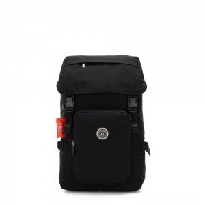 Black Friday 2020 - Kipling YANTIS Large backpack with pushbuckle fastening and laptop protection Brave Black